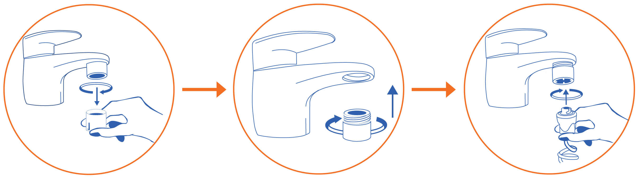 Connection with filter adapter for mounting to the tap